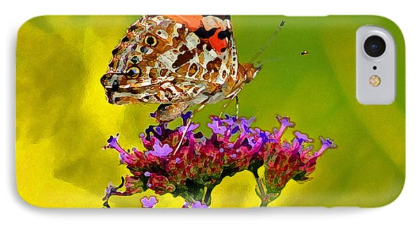 American Painted Lady Butterfly Phone Case by Karen Adams