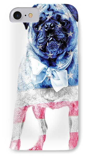American Pug Phone Case IPhone Case by Edward Fielding
