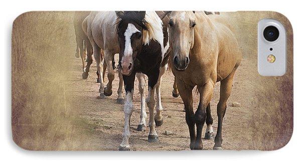 American Quarter Horse Herd Phone Case by Betty LaRue