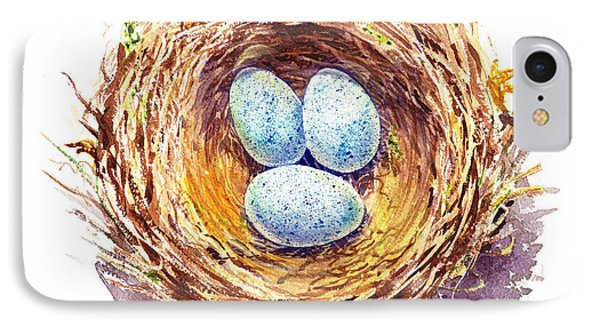 American Robin Nest IPhone Case by Irina Sztukowski