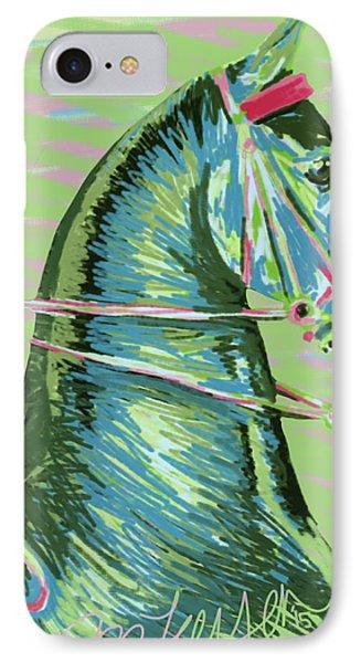 American Saddlebred Horse Digital Painting IPhone Case by Dee Larsen
