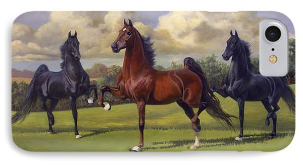 American Saddlebred Stallions IPhone Case by Jeanne Newton Schoborg