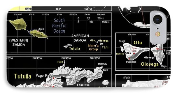 American Samoa Exotic Map IPhone Case