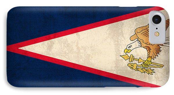 American Samoa Flag Vintage Distressed Finish Phone Case by Design Turnpike