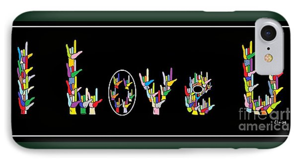 American Sign Language I Love U   Phone Case by Eloise Schneider