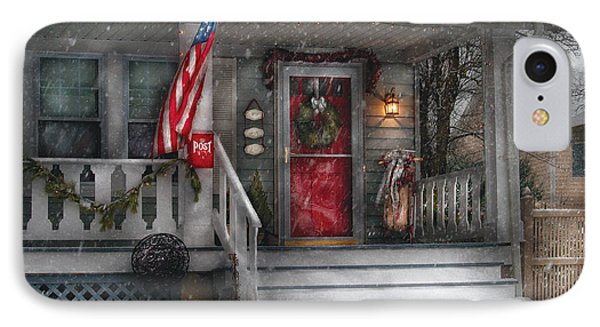 Americana - A Tribute To Rockwell - Westfield Nj IPhone Case by Mike Savad