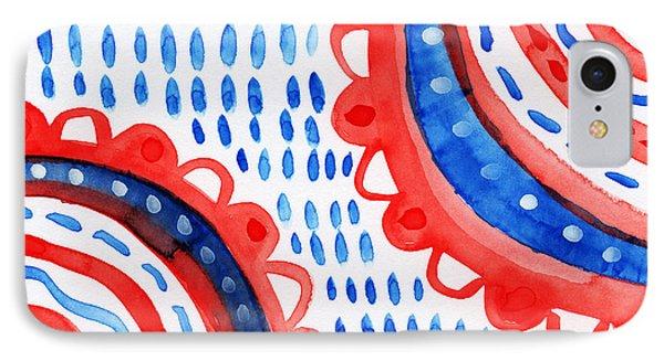 Americana Celebration 3- Painting IPhone Case by Linda Woods