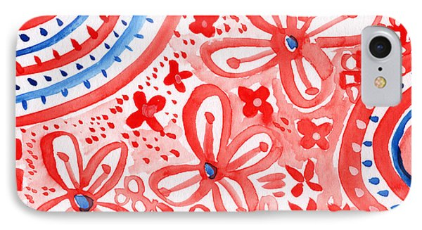 Americana Celebration- Painting IPhone Case by Linda Woods