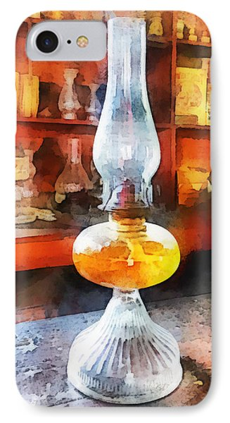 Americana - Hurricane Lamp In General Store Phone Case by Susan Savad