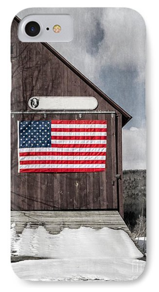 Americana Patriotic Barn IPhone Case by Edward Fielding
