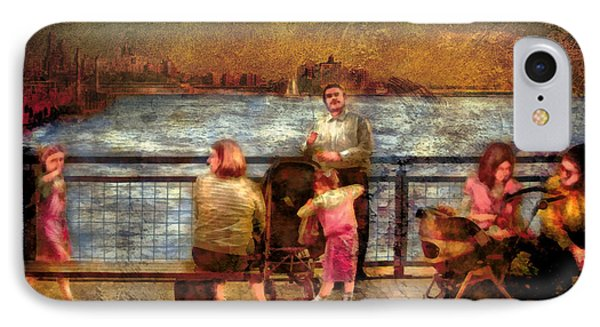 Americana - People - Jewish Families Phone Case by Mike Savad