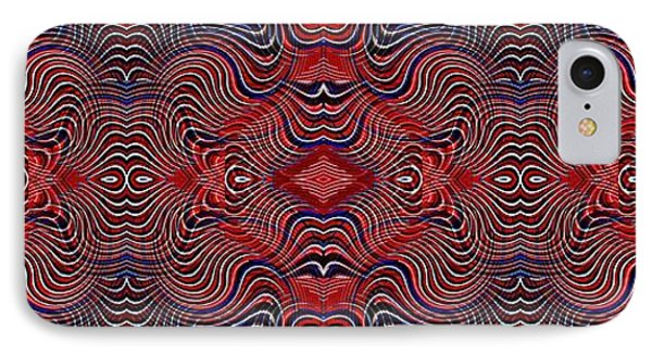 Americana Swirl Banner 2 IPhone Case by Sarah Loft