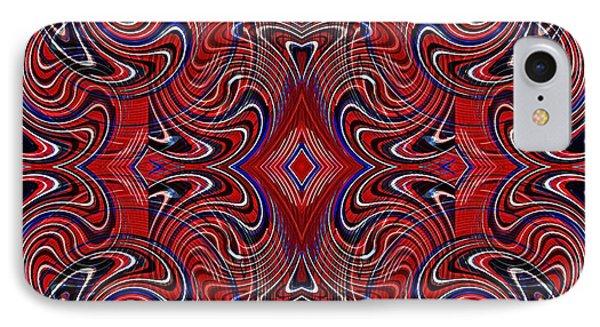 Americana Swirl Design 1 IPhone Case by Sarah Loft