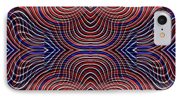 Americana Swirl Design 10 IPhone Case by Sarah Loft