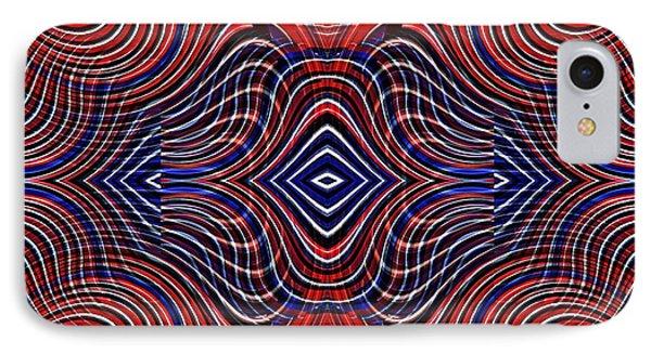 Americana Swirl Design 11 IPhone Case by Sarah Loft