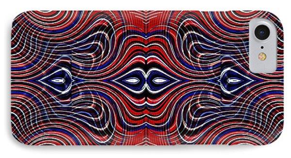 Americana Swirl Design 6 IPhone Case