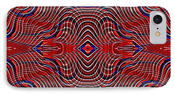 Americana Swirl Design 8 IPhone Case by Sarah Loft