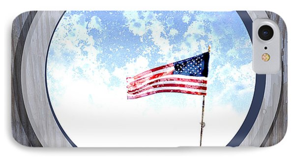 Americana Usa Flag IPhone Case by Ann Powell