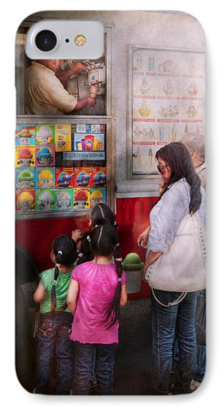 Americana - Vendor - Serving Chocolate Ice Cream Phone Case by Mike Savad