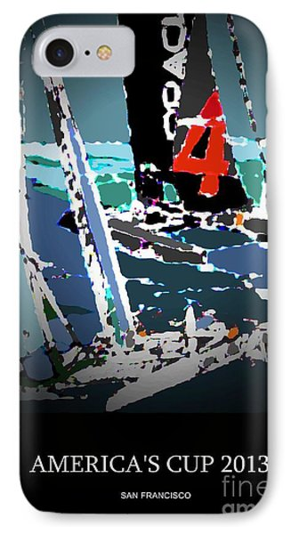 America's Cup 2013 Poster IPhone Case by Andrew Drozdowicz