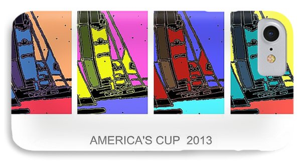 America's Cup Poster 3 IPhone Case by Andrew Drozdowicz