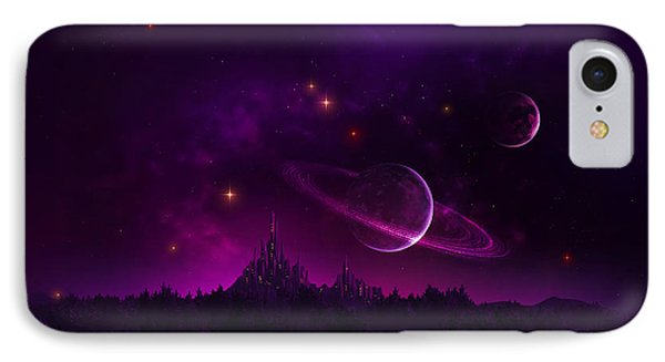 Amethyst Night IPhone Case by Cassiopeia Art