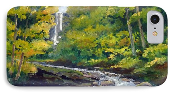 Amicalola Falls Painting IPhone Case by Sally Simon