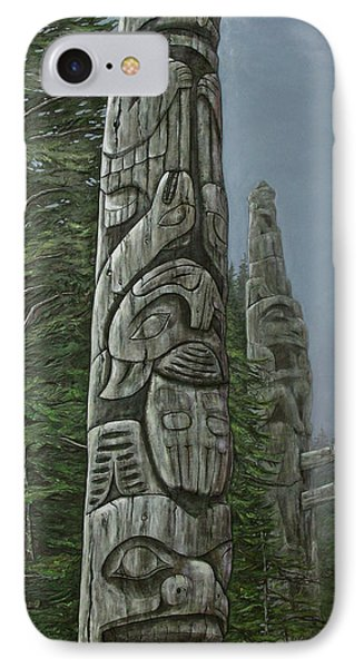 Amid The Mist - Totems Phone Case by Elaine Booth-Kallweit