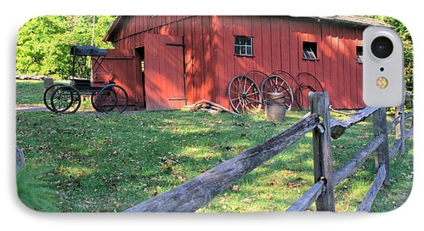 Amish Barn Along A Fenceline IPhone Case