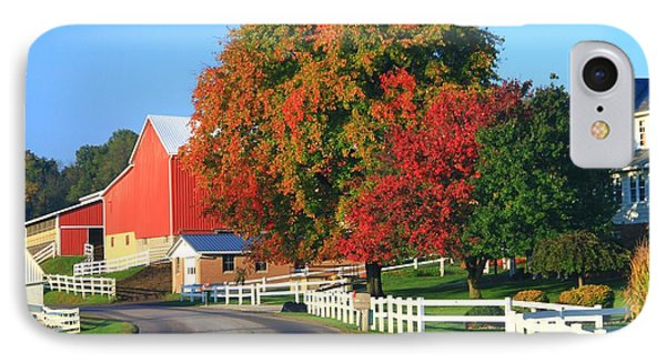 Amish Barn In Autumn IPhone Case