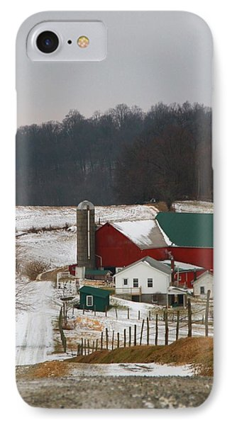 Amish Barn In Winter IPhone Case