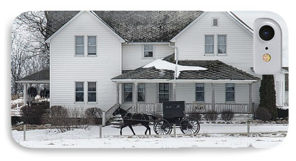 Amish Buggy And Amish House IPhone Case