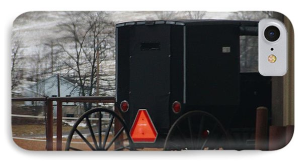Amish Buggy In Winter IPhone Case by Dan Sproul