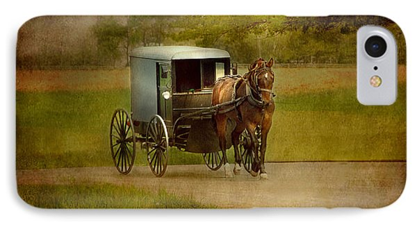 IPhone Case featuring the photograph Amish Buggy Ride by Dyle   Warren