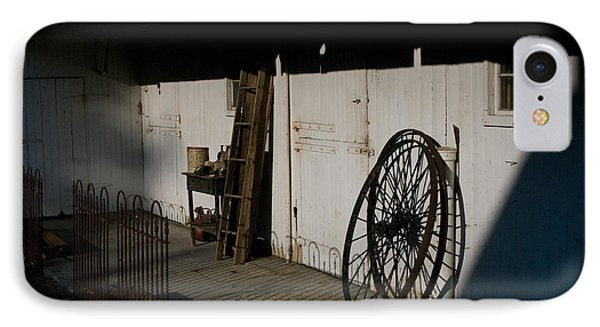 Amish Buggy Wheel IPhone Case by Greg Graham