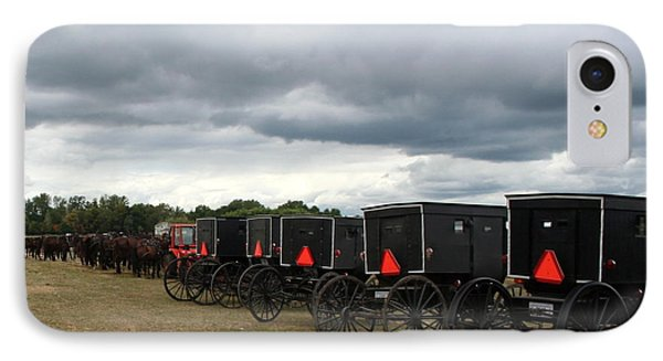 Amish Car Park IPhone Case by Debra Kaye McKrill