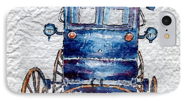 IPhone Case featuring the painting Amish Cart by Mary Haley-Rocks