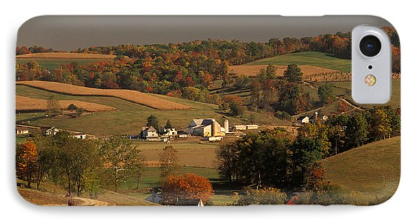 Amish Farm In An Ohio Valley In The Fall IPhone Case