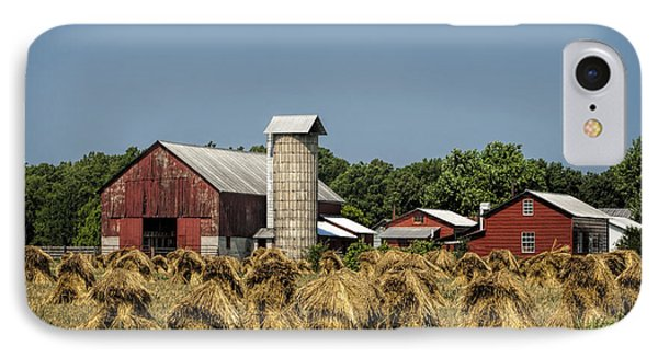 Amish Farm Wheat Stack Harvest Phone Case by Kathy Clark
