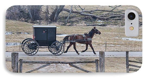 Amish Horse And Buggy March 2013 IPhone Case