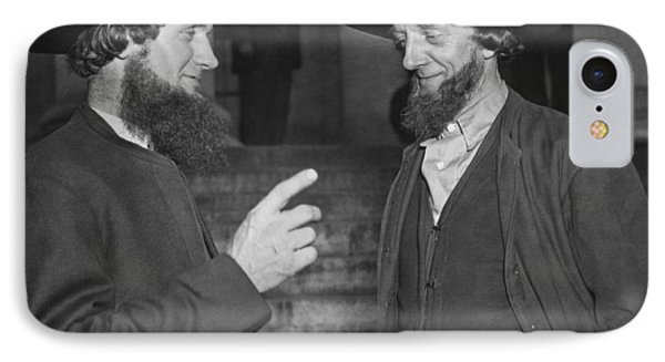 Amish Men Protest Pwa Grant IPhone Case