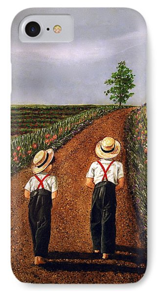 Amish Road IPhone Case by Linda Simon
