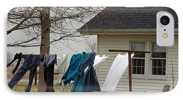 Amish Washday - Allen County Indiana IPhone Case by Suzanne Gaff