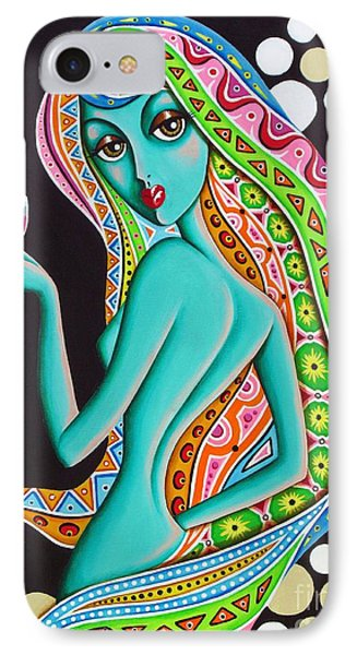 IPhone Case featuring the painting Amitty Groovy Chick Series Detail by Joseph Sonday