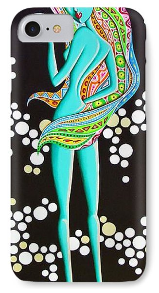 IPhone Case featuring the painting Amitty Groovy Chick Series by Joseph Sonday