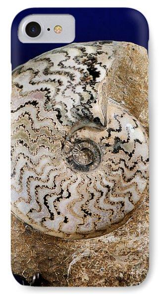 Ammonite Fossil Phone Case by Scott Camazine