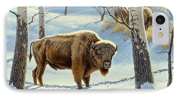Among The Aspens- Buffalo Phone Case by Paul Krapf