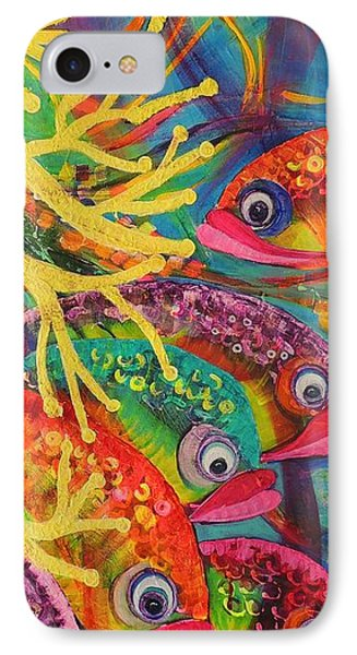 IPhone Case featuring the painting Amongst The Coral by Lyn Olsen