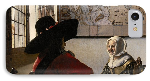 Amorous Couple IPhone Case by Jan Vermeer