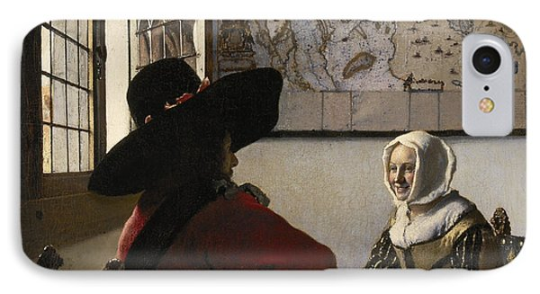 Amorous Couple IPhone Case by Vermeer